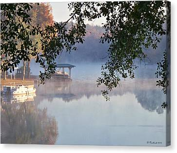 Canvas Print featuring the photograph Autumn Fog by Betty Northcutt