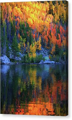 Autumn Foliage Reflection Bear Lake Canvas Print by Dan Sproul