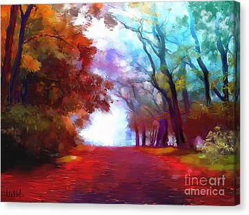 Autumn Forest Canvas Print by Melanie D
