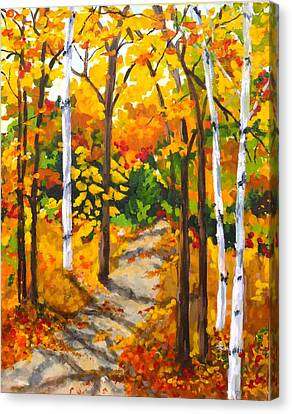 Autumn Forest Trail Canvas Print