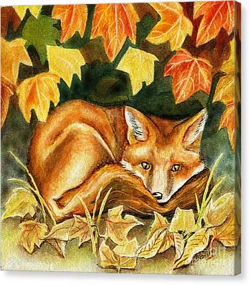 Autumn Fox Canvas Print by Antony Galbraith