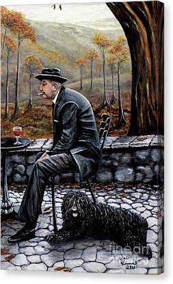 Autumn Friends Canvas Print by Judy Kirouac