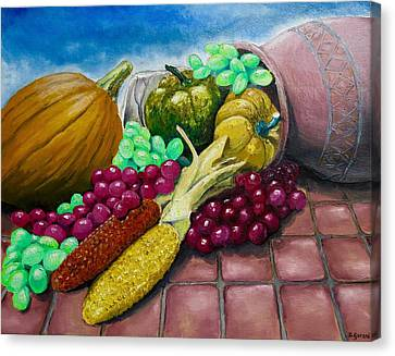 Canvas Print featuring the painting Autumn by Geni Gorani