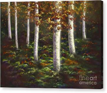 Canvas Print featuring the digital art Autumn Ghosts by Amyla Silverflame