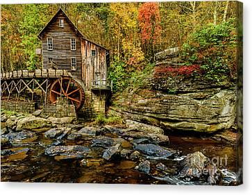 Grist Mill Canvas Print - Autumn Glade Creek Grist Mill  by Thomas R Fletcher