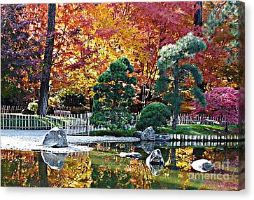 Autumn Glow In Manito Park Canvas Print by Carol Groenen