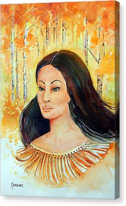 Autumn Goddess Canvas Print