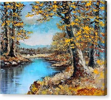 Autumn Gold Canvas Print by Karon Melillo DeVega