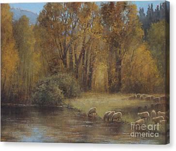 Autumn Grazing Canvas Print