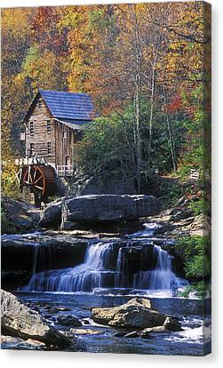 Autumn Grist Mill - Fs000141 Canvas Print by Daniel Dempster