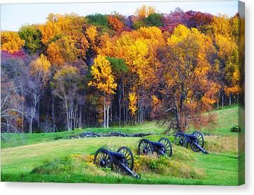 Autumn Guns Canvas Print by Bill Cannon