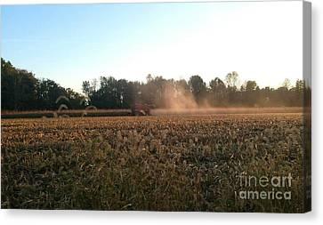 Autumn Harvest At Dusk Brown County Indiana Canvas Print by Scott D Van Osdol
