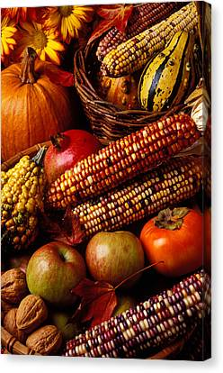 Harvest Canvas Print - Autumn Harvest  by Garry Gay