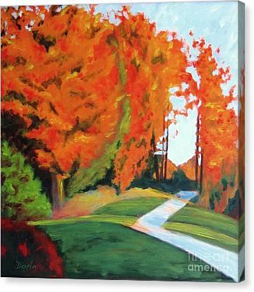 Autumn Hill Canvas Print by Antony Galbraith