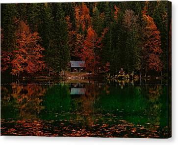 Autumn Idyll Canvas Print by Saso Tusar