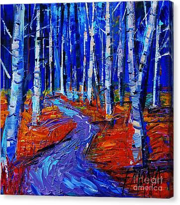 Autumn Impression Canvas Print by Mona Edulesco