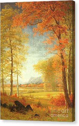 Change Canvas Print - Autumn In America by Albert Bierstadt