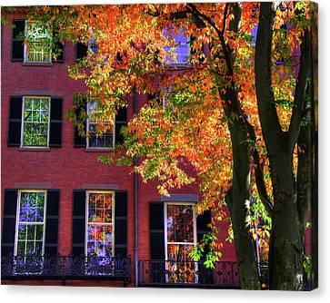Autumn In Boston - Louisburg Square - Boston Canvas Print