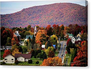 Autumn In Danville Vermont Canvas Print by Sherman Perry