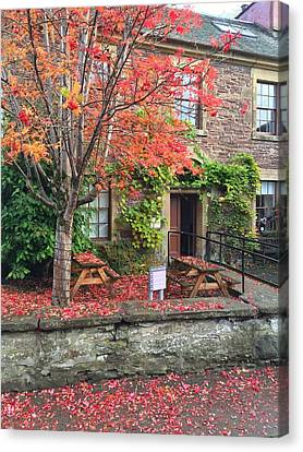 Canvas Print featuring the photograph Autumn In Dunblane by RKAB Works