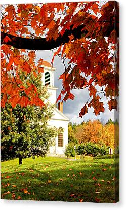 Autumn In Gilmanton Canvas Print