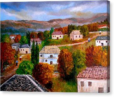 Autumn In Greece Canvas Print
