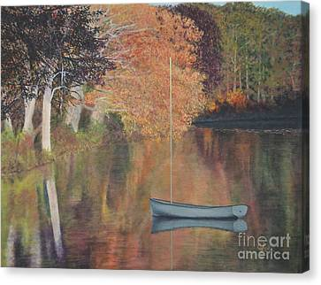 Autumn In Hamburg Cove Canvas Print by Cindy Lee Longhini