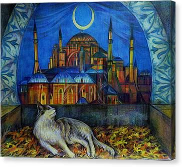 Autumn In Istanbul Canvas Print by Anna Duyunova