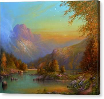 Autumn In Lake Killarney Canvas Print by Joe Gilronan