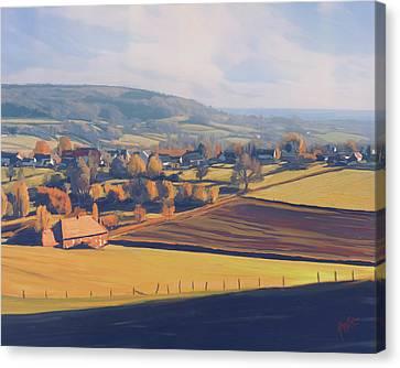 Autumn In Mechelen Canvas Print by Nop Briex
