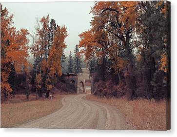 Autumn In Montana Canvas Print by Cathy Anderson