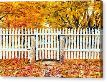 Autumn In New England Canvas Print by Edward Fielding