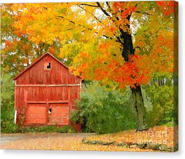 Autumn In New England Canvas Print by Michael Petrizzo