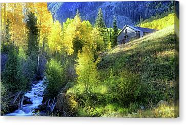 Canvas Print featuring the photograph Autumn In Ophir - Colorado - Aspens by Jason Politte