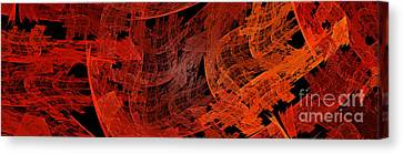 Autumn In Space Abstract Pano 1 Canvas Print by Andee Design