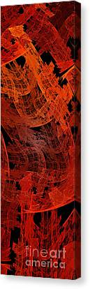 Autumn In Space Abstract Pano 2 Canvas Print by Andee Design