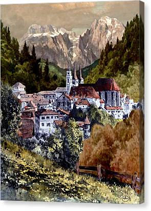 Autumn In The Alps Canvas Print