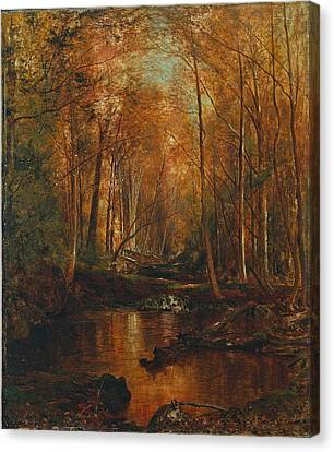 Autumn In The Catskills Canvas Print by Jervis McEntee