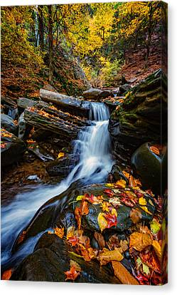 Autumn In The Catskills Canvas Print by Rick Berk