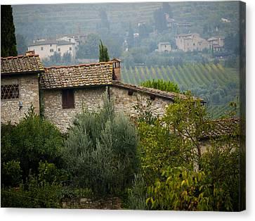 Autumn In The Chianti Region Canvas Print