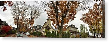 Autumn In The City 11 Canvas Print by Victor K