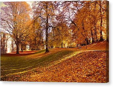 Autumn In The City Park Maastricht Canvas Print by Nop Briex