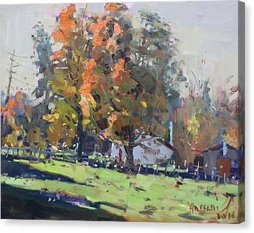 Autumn In The Farm Canvas Print by Ylli Haruni