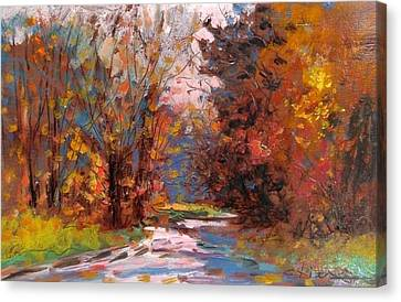 Autumn In The Forest Canvas Print by Biagio Chiesi
