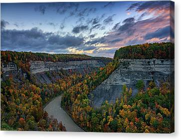 Autumn In The Gorge Canvas Print by Rick Berk