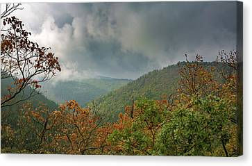Autumn In The Ilsetal, Harz Canvas Print