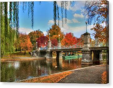 Autumn In The Public Garden - Boston Canvas Print by Joann Vitali