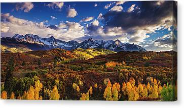 Canvas Print featuring the photograph Autumn In The Rockies by Andrew Soundarajan