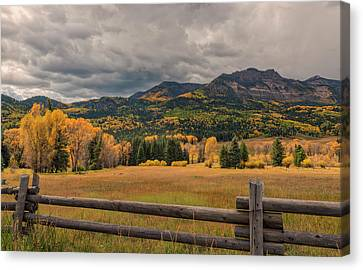 Autumn In The San Juan River Valley Canvas Print by Loree Johnson