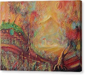 Autumn In The Shire Bag End Canvas Print by Joe  Gilronan